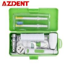 AZDENT yeni taşınabilir Oral Irrigator su musluk diş pensesinde çıkarılabilir ipi sulama fırça kafası yağmurlama kutusu 2 Jet İpuçları