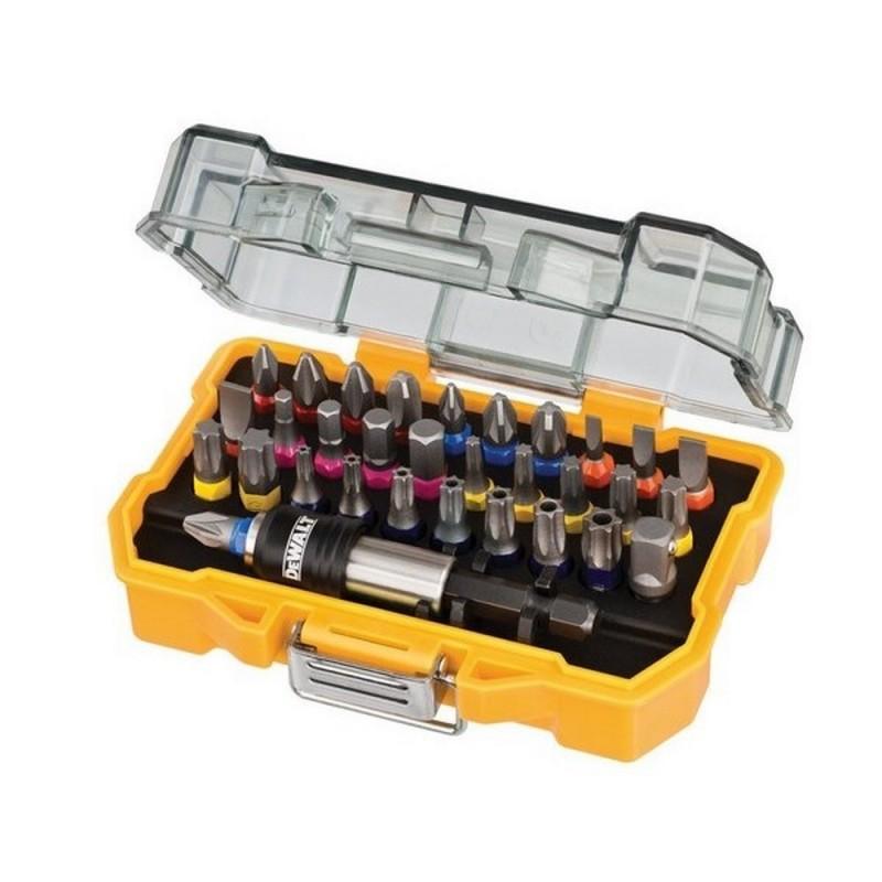 DEWALT DT7969-QZ-Kit 32 Tips Pz. Ph. Flat. Torx. Torx Inviolables Hex And Plug Adapter