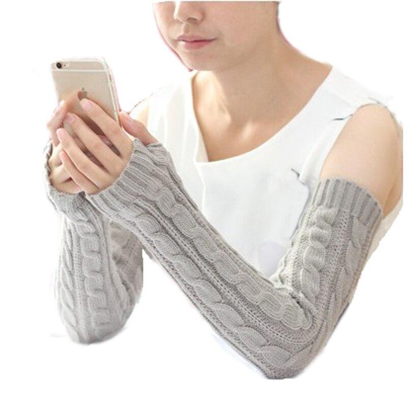 Мисс цю дон \'ы удлинение перчатки трикотажные половины пальцев теплые шерстяные перчатки