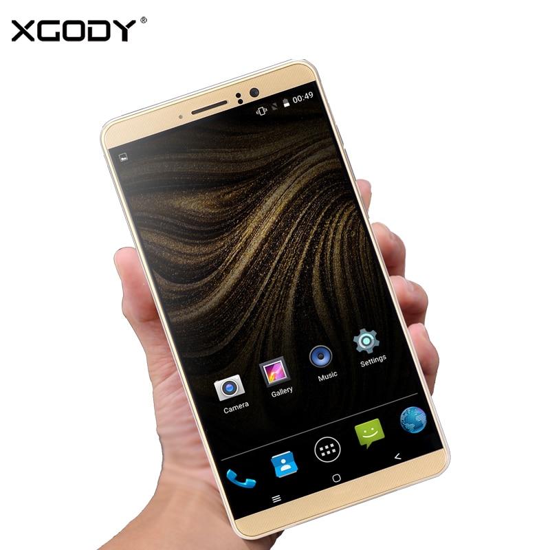 XGODY Y14 6 pouces 3G Smartphone MTK6580 Quad Core 1GB RAM 8GB ROM Android 5.1 téléphone portable déverrouillage double SIM 6.0 pouces WiFi GPS