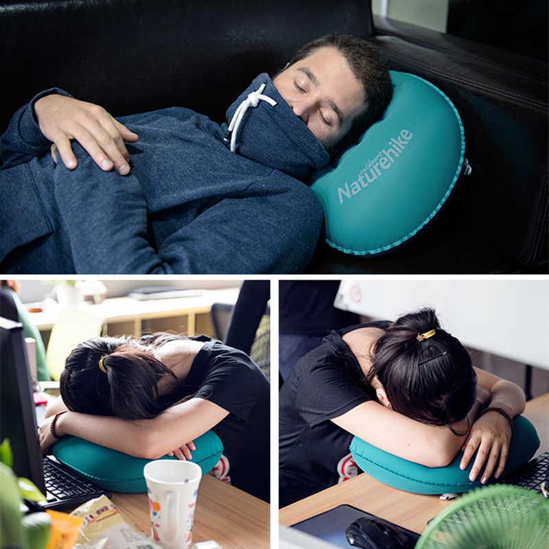 Naturehike Kompressible Aufblasbare Camping Kissen Leichte Kompakte Tragbare Rucksack Kissen für Schlaf und Lenden Unterstützung