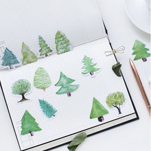 45pcs/box Kawaii Green Small forest Stickers Decorative Stationery Scrapbooking DIY Diary Album Stick Label Sticker