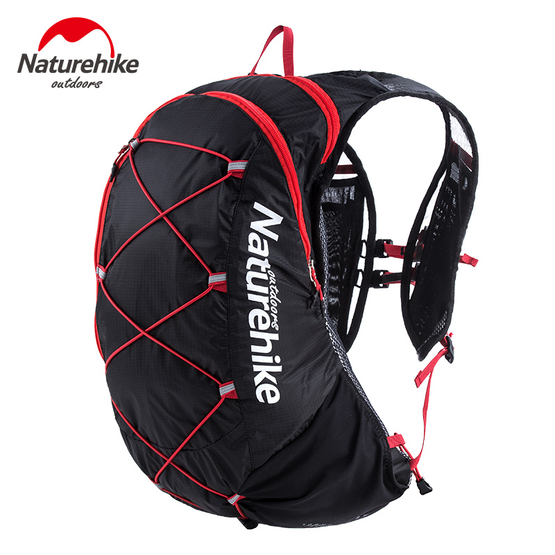 Naturehike Ultralight Outdoor Running Bag Backpacks Reflective Hiking Cycling Sports Bag Waterproof Off road Trail Running Bag