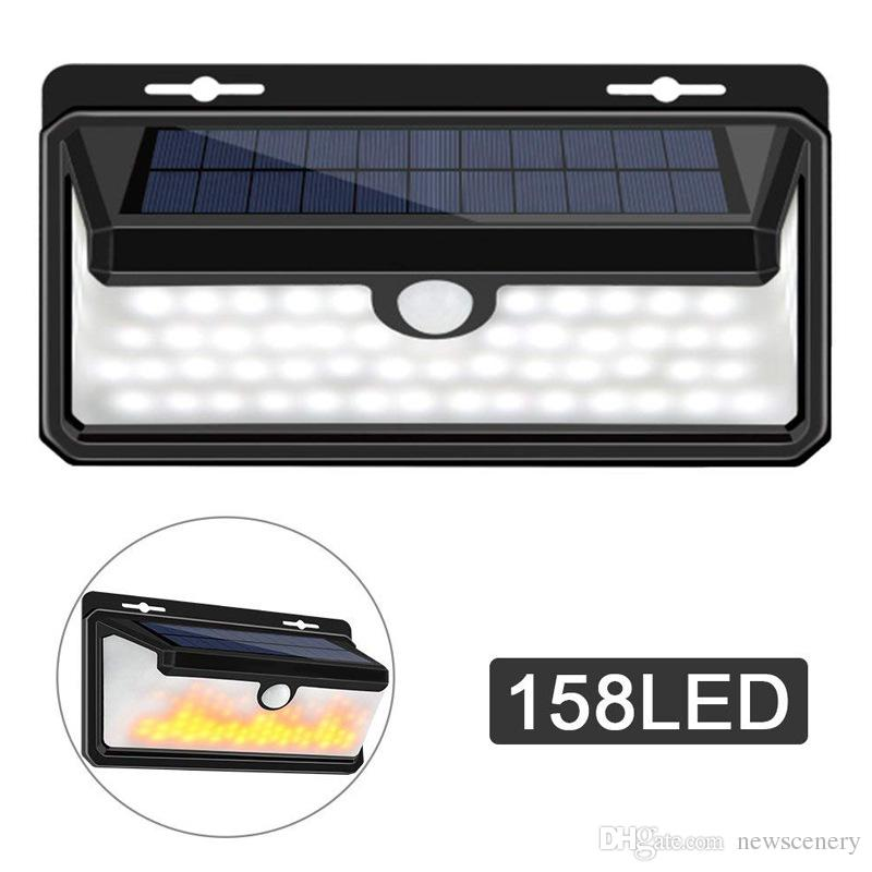 New Scenery 158led waterproof outdoor light solar outdoor wall light solar outdoor lamp LED solar spotlight with outdoor sensor