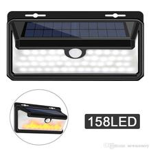 New Scenery 158led waterproof outdoor light solar wall lamp LED spotlight with sensor