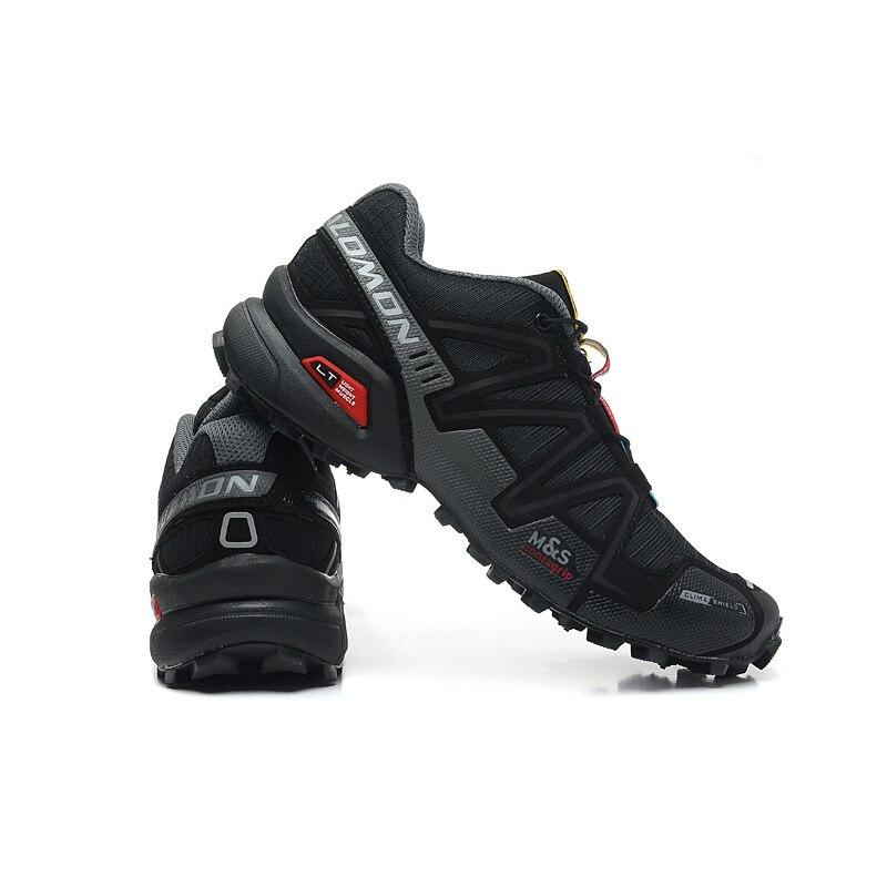 Salomon Chaussures Hommes Chaussures de Course Speed Cross 3 CS III D'été Respirant Appartements Sport Chaussures Noir Gris Rouge En Plein Air Sneakers 40-46