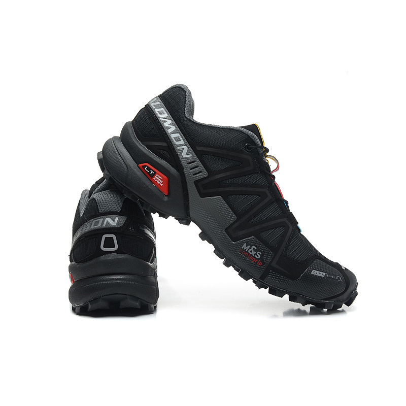 Salomon Shoes Men Running Shoes Speed Cross 3 CS III Summer Breathable Flats Sport Shoes Black Grey Red Outdoor Sneakers 40-46 ботинки salomon ботинки shoes shelter spikes cs wp black bk ptr