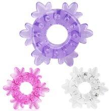 Модные мужские снежинки пениса Cock кольцо задержки эякуляции секс-игрушки для взрослых игрушки