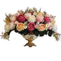 Ceramica florero decoracion jarrones decorativos de cerâmica vaso de flor para casa acessórios de decoração moderna vaso de flor moderno
