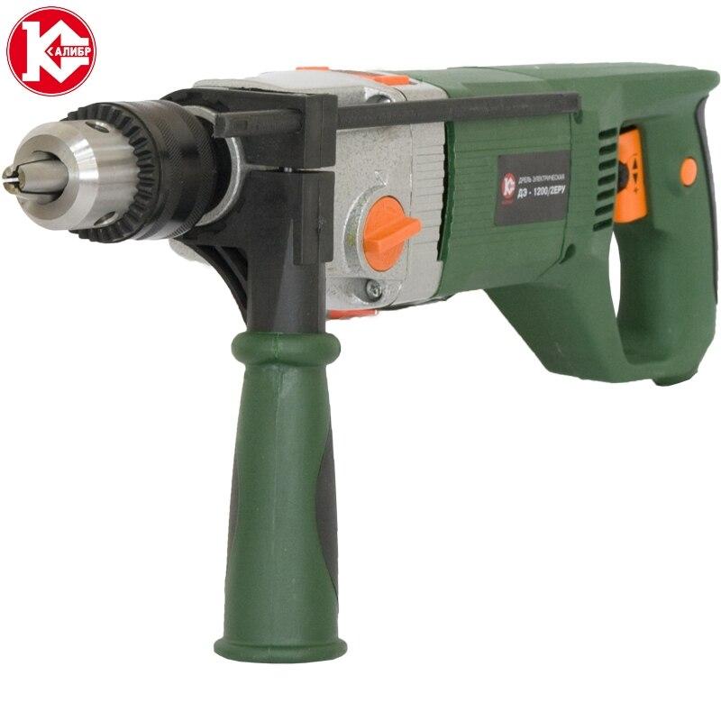 Impact electric drill Kalibr DE-1200/2ERU 1200W, 0-2000 ob/min цена