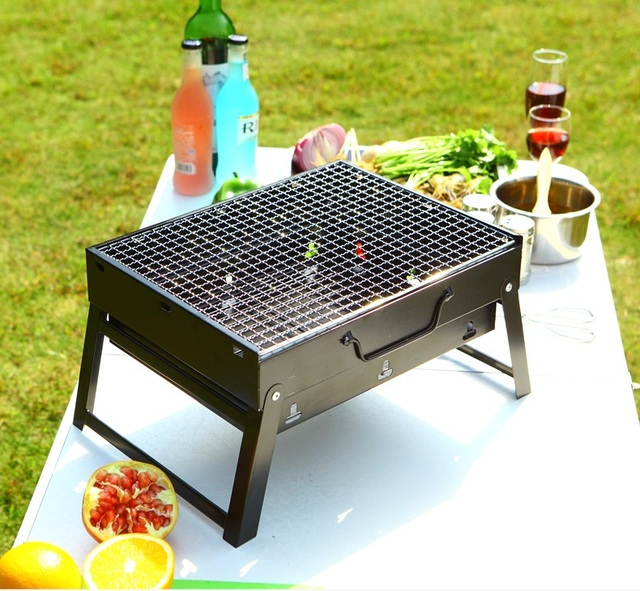 Stainless Steel Bbq Barbecue Grill Compact Charcoal Outdoor Folding Portable Kebab Shashlik
