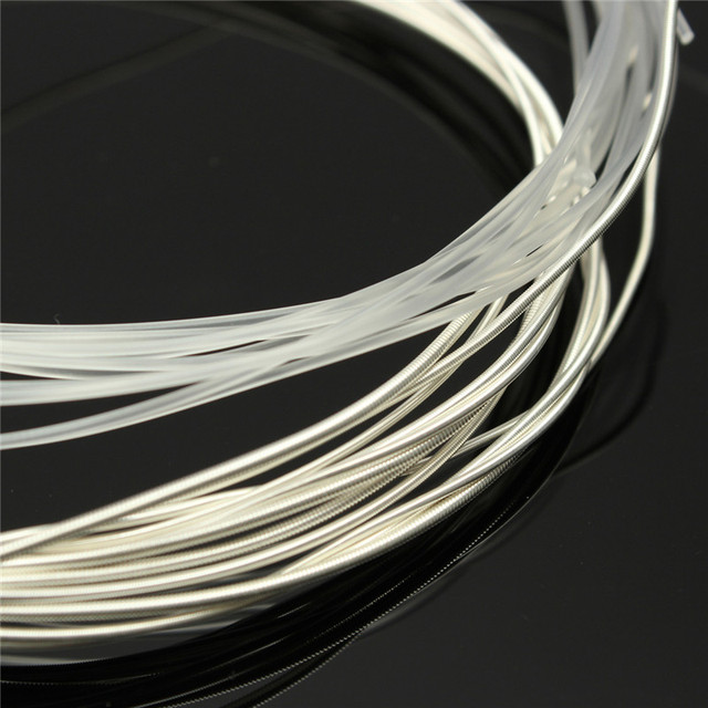 Zebra 6 pcs/Set Guitar Strings Nylon Silver Plating Set Super Light for Acoustic Guitar Music Instruments Parts Accessories 2