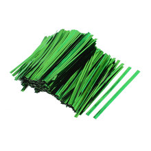 UXCELL 1600 Pcs Green 8Cm Length Candy Bread Bags Packaging Twist Cable Tie