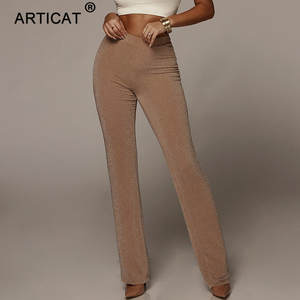 Articat High Waist Wide Leg Pants Winter Trousers Women