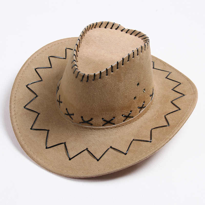 775ccaede6f Men s Women s Fashion Cowboy Cap Solid Color Wide Brim Hat for Fancy Dress  Party