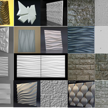 Molds Form Plaster Panels Wall-Stone Low-Price Art-Decor 3D 3d-Tile -2