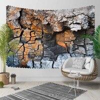 Anderes Braun Grau Gebrochen Berg Wand 3D Druck Dekorative Hippi Böhmischen Wand Hängen Landschaft Wandteppich Kunst-in Dekorative Wandteppiche aus Heim und Garten bei