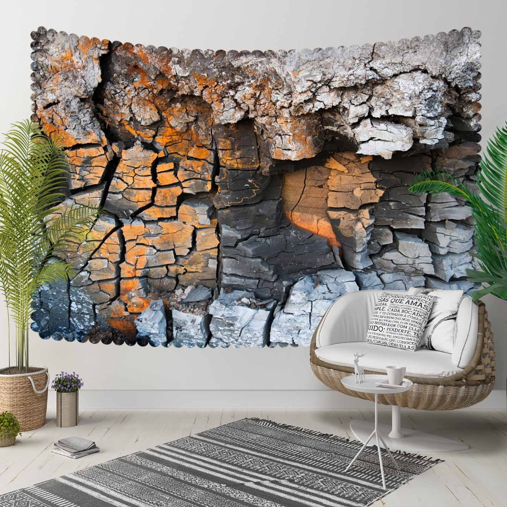 Else Brown Gray Broken Mountain Wall 3D Print Decorative Hippi Bohemian Wall Hanging Landscape Tapestry Wall Art