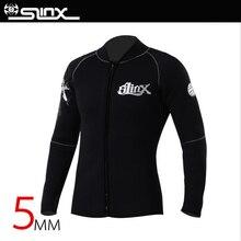 SLINX 5 мм неопрена погружения гидрокостюм куртка для теплые для женщин мужчин Серфинг Виндсерфинг купальники для малышек водо