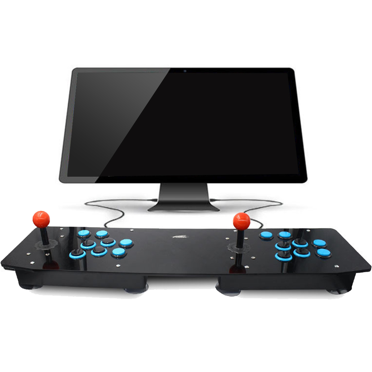 Double Acrylic Arcade Joystick Video Arcade Game Joystick Arcade Controller Console Game Machine For PC For Windows USB New arcade joystick gamepad kit 800 games in 1 video tv jamma 2 joystick vga hidmi metal double stick arcade console with 2players