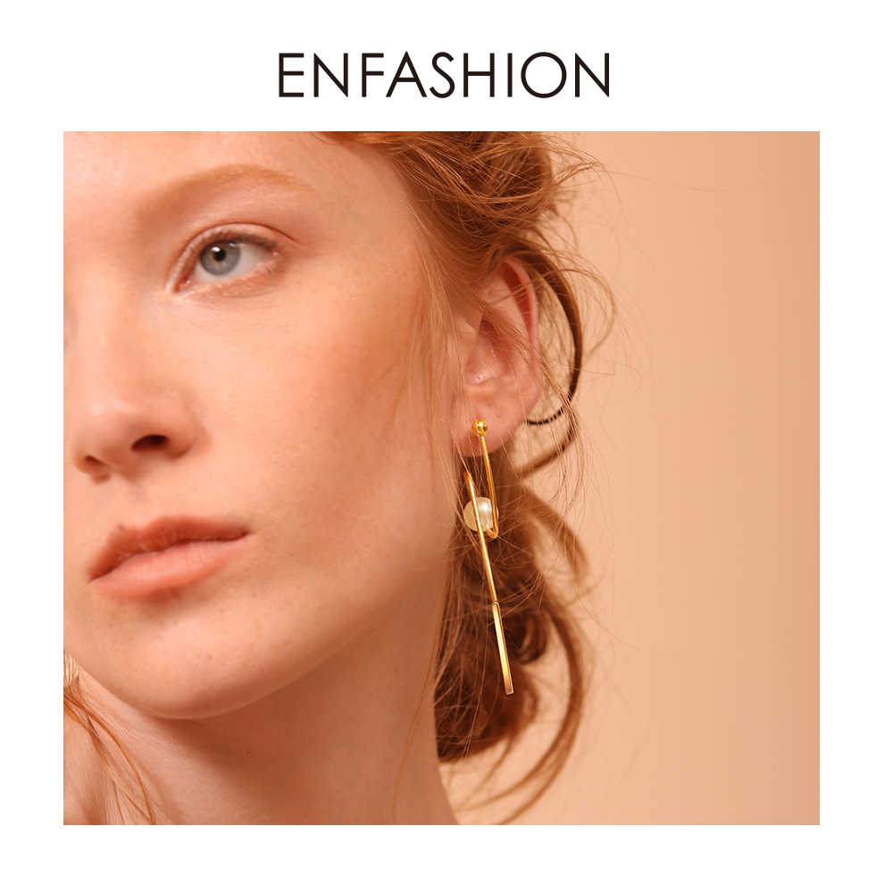 Enfashion Star Trails Earrings Stainless steel Gold color Dangle Earrings for women Long Earings Jewelry Wholesale 181069