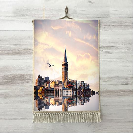 Else <font><b>Istanbul</b></font> Ottoman Sea Bosphorus View Clouds 3D Print Decorative Gift Wall Art Rope Hanging Rug Carpet Tasseled Tapestry image