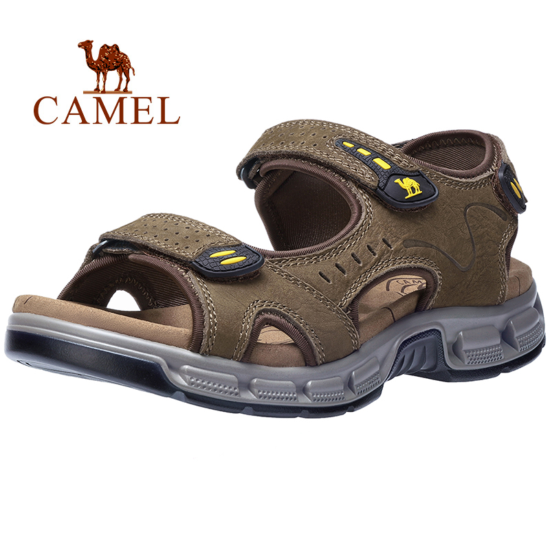 CAMEL Summer Men s Sandals Genuine Leather Men s Shoes Open Toe for Outdoor Hiking Walking
