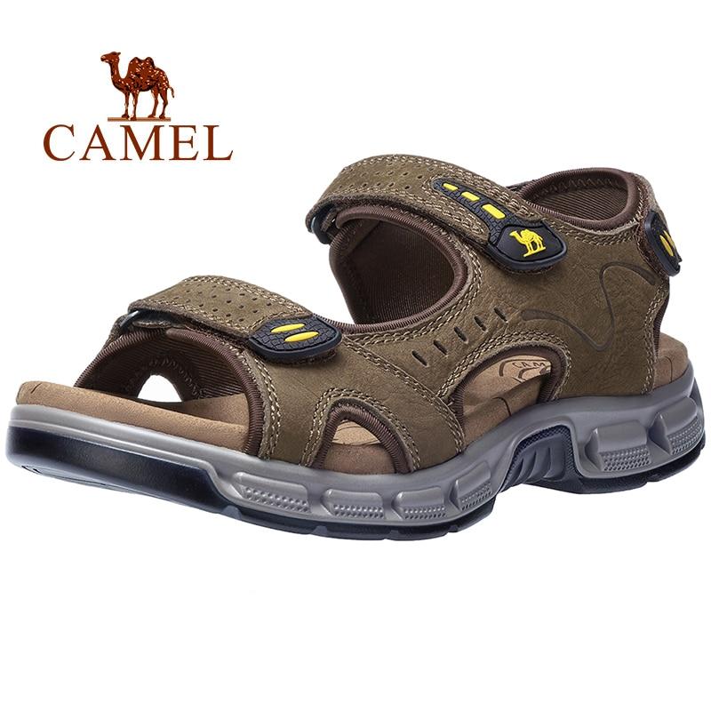 CAMEL Summer Men s Sandals Genuine Leather Men s Shoes Open Toe for Outdoor Hiking Walking