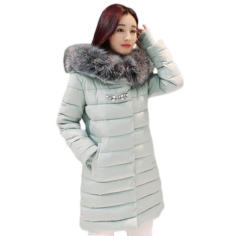 Nouvelle Mode Hiver Coton Manteau Femme Mince Chaud Parka À Capuche Femme Manteau Glooves Femmes Coton rembourré Veste