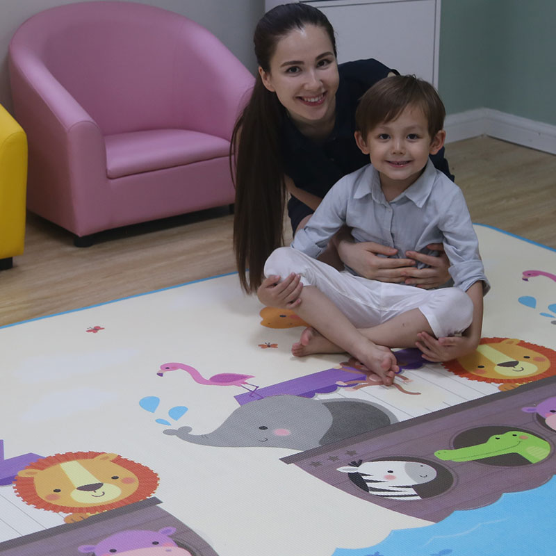 Baby play floor playing infant XDE foam two sides cartoon thickened game rug toddler activity crawling mat on sale mat008