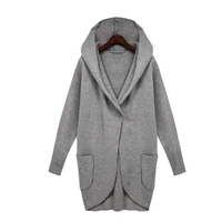 High Quality Material Fashion Women S Slim Long Hooded Coat Jacket Windbreaker Outwear Coat Solid Color