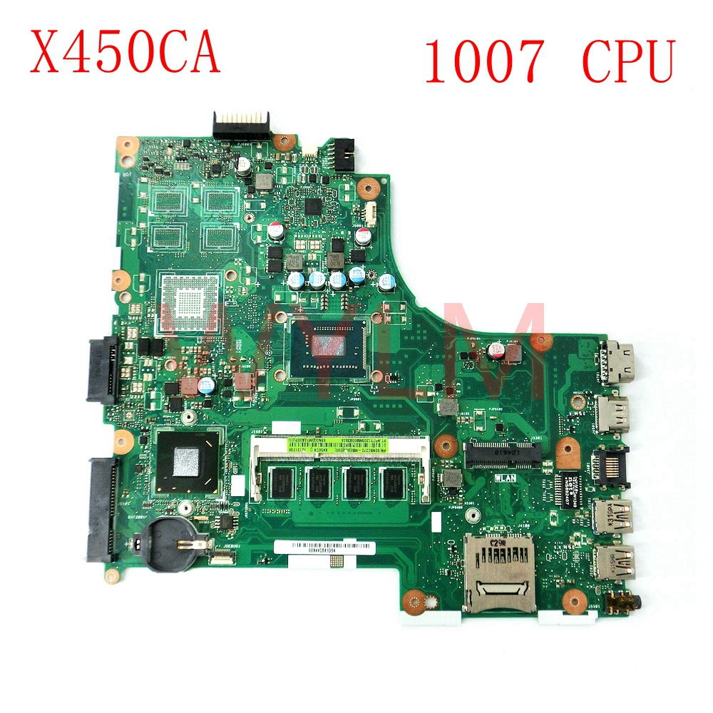 free shipping X450CA With 1007 CPU 2GB memory mainboard REV 2.0 For ASUS X450CA X450CC laptop motherboard Tested Working Well original fully tested laptop motherboard for asus 1215 1215n vx6 rev 1 4 with cpu intel ddr3 and free shipping