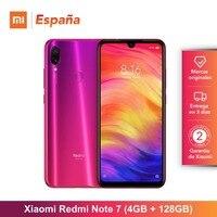 Xiaomi Redmi Note 7 (128GB ROM, 4GB RAM, Camara dual trasera de 48 MP, Android, Nuevo, Libre) [Teléfono Movil Versión Global par