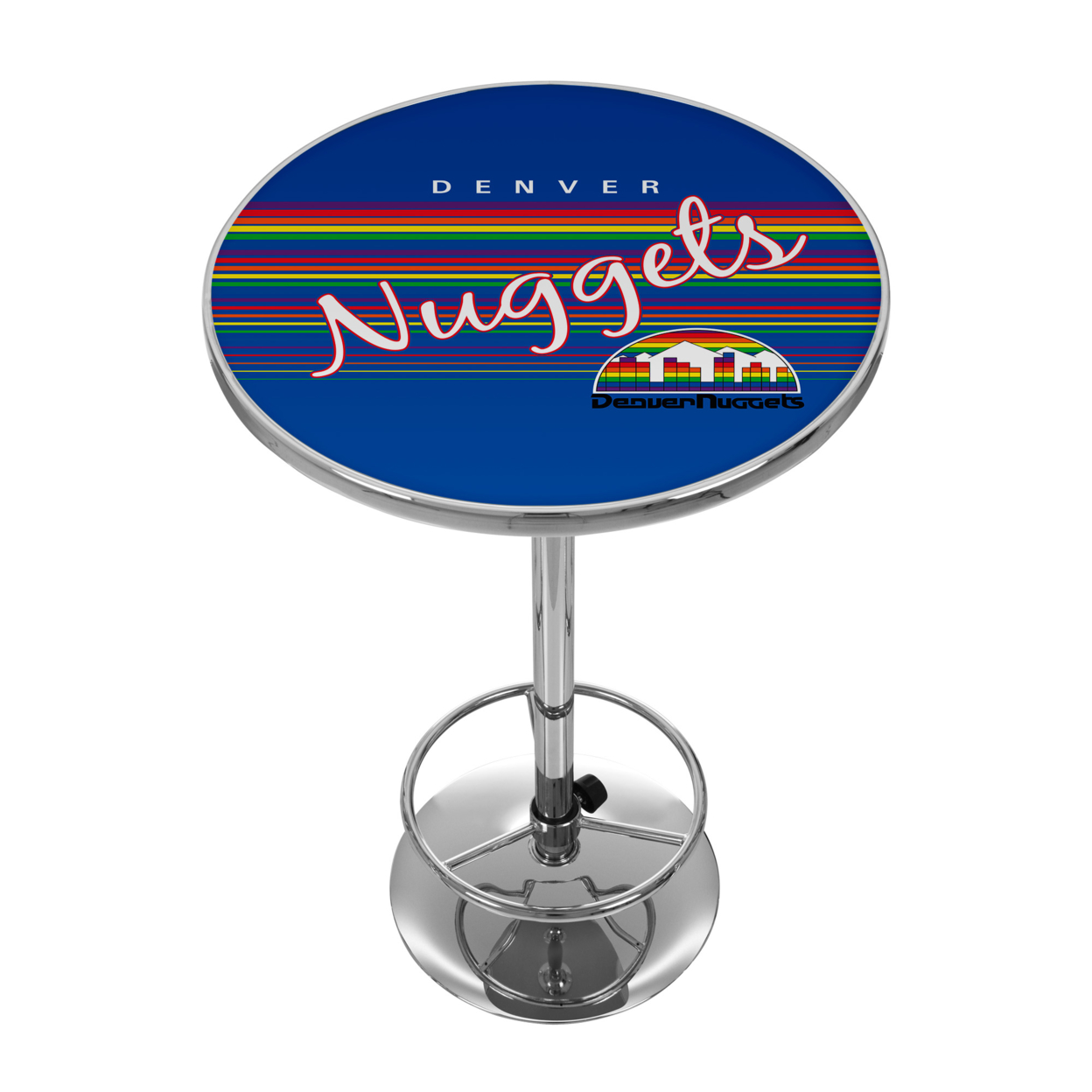 Denver Nuggets Hardwood Classics NBA Chrome 42 Inch Pub Table gardner denver 301efc6013