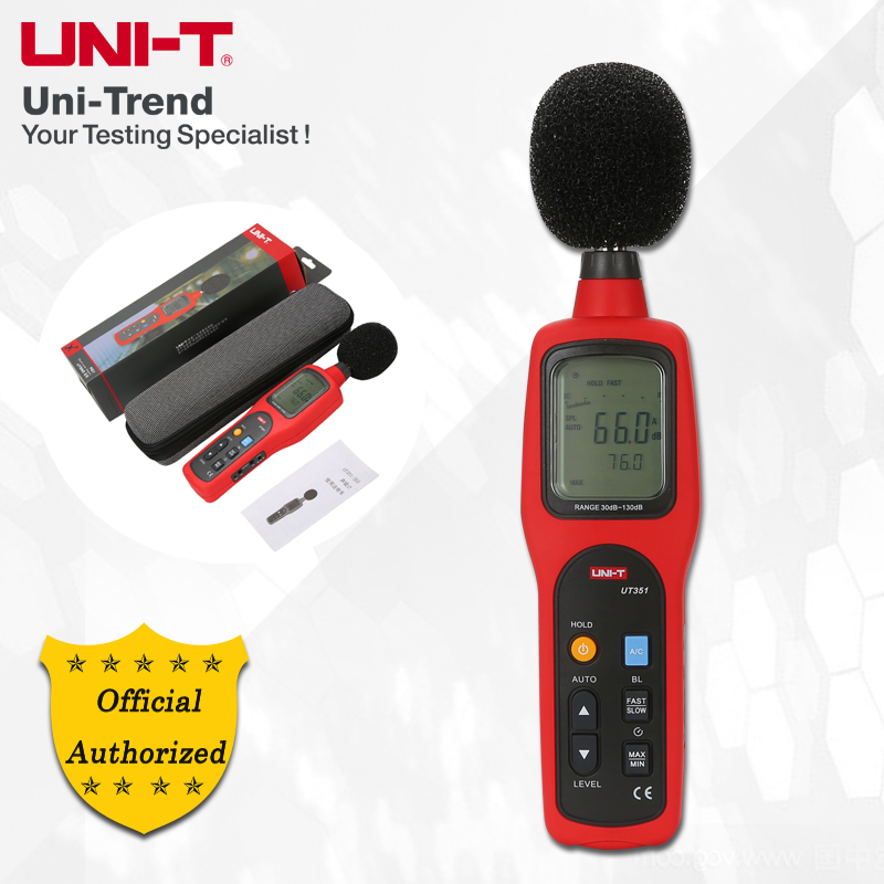UNI-T UT351 Sound Level Meter; Industrial/Home Professional Noise Meter, Upper/Lower Limit Alarms/Analog Bar Graph/LCD Backlight цены