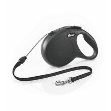 Рулетка Flexi для собак New Classic M (до 20 кг), шнур, 8 м.