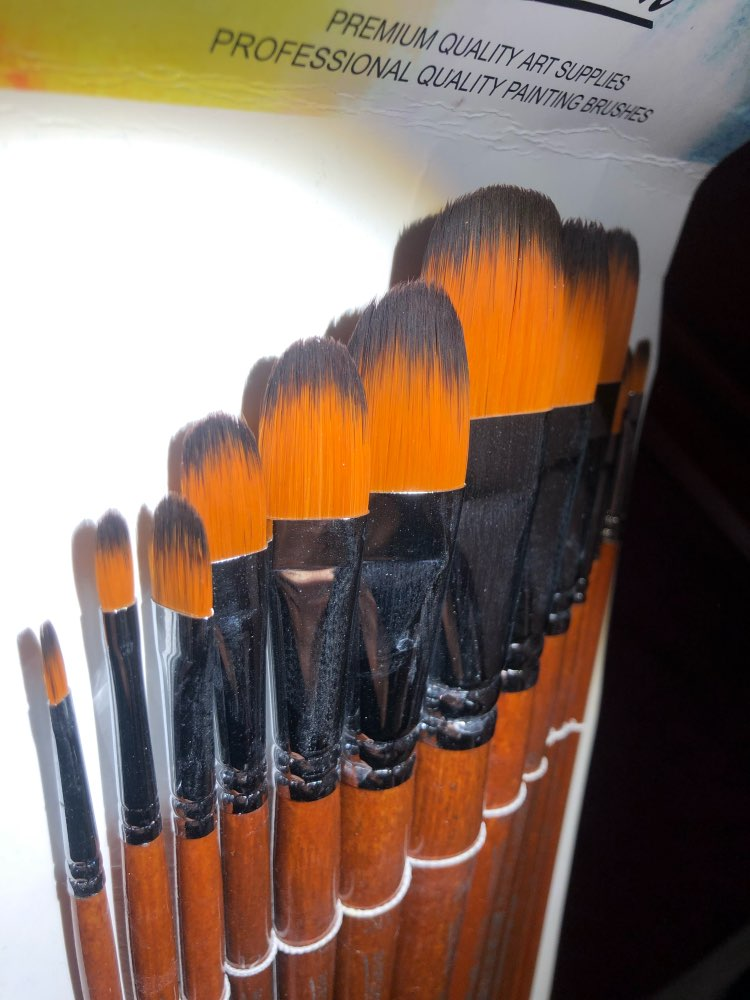 Filbert Painting Brush Set 13Pcs | Long Handle | photo review