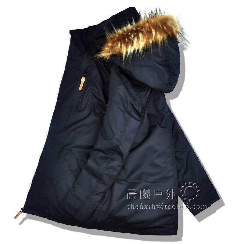 2019 GSOU neige femmes veste de Ski Snowboard veste vêtements d'hiver coupe-vent imperméable à l'eau fourrure sports de plein air porter femme manteau épaissir - 5