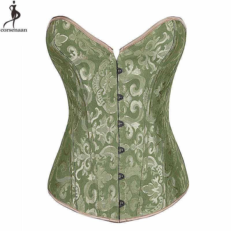 Eenvoudige Elegante Corset Bovenborst Geen Laciness Bustier Plastic Uitgebeend Korsett Voor Vrouwen Jacquard Bloemen Gorset Minceur Outfit Korset