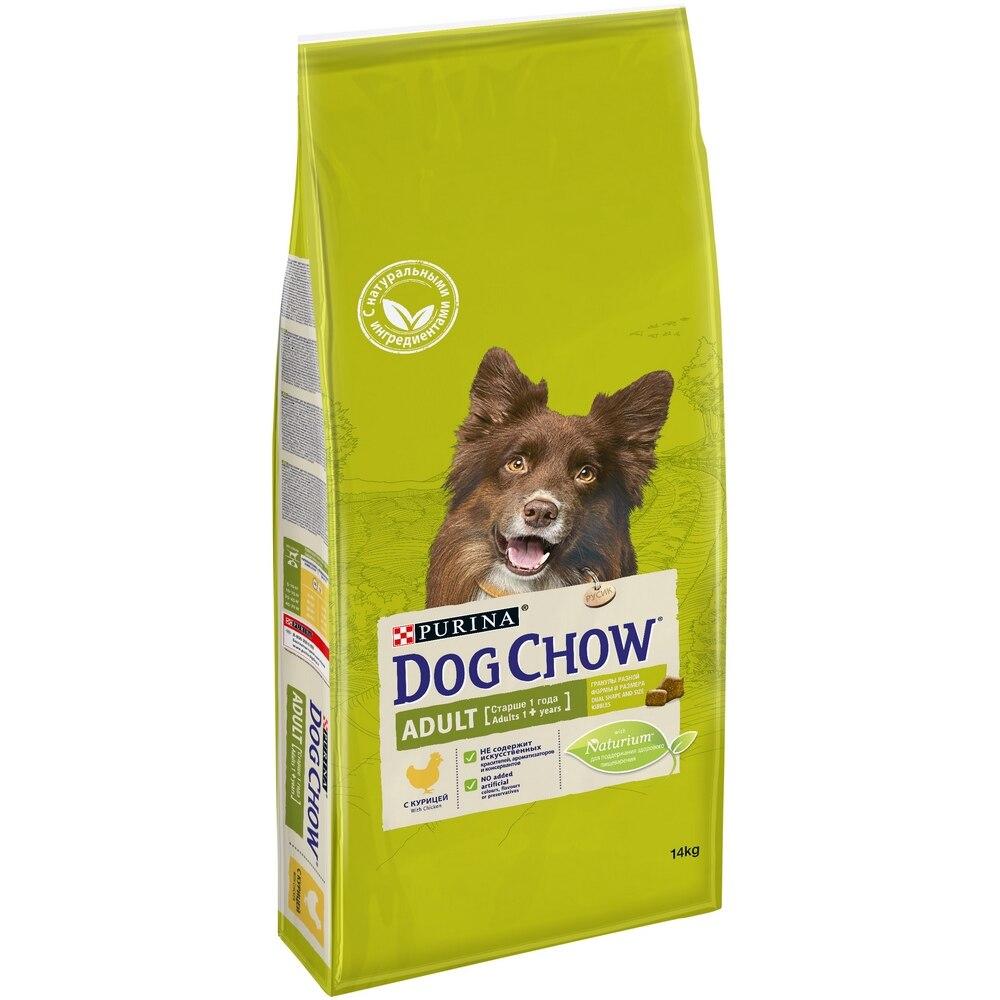 Dog Chow Adult для взрослых собак всех пород, Курица, 14 кг