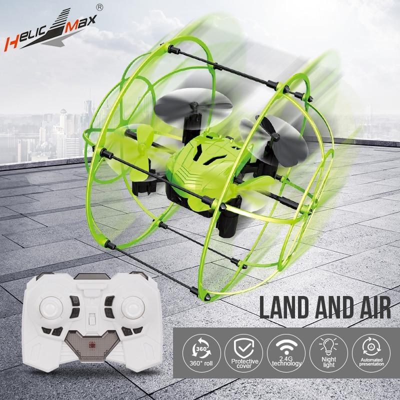 Mini Drone bola Helic Max Sky Walker 1336 de 2,4 GHz 4CH bola RC Quadcopter 3D Flip de cabeza Drone juguetes RC helicóptero