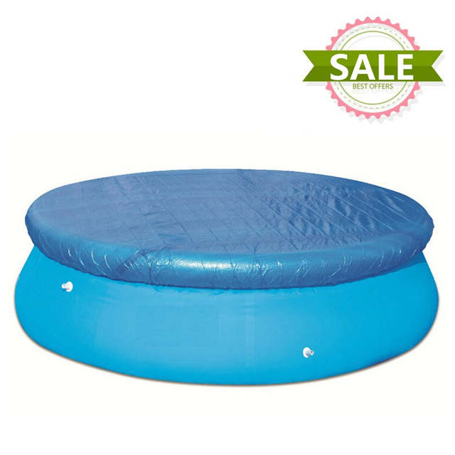 Online Shop Blue Round Inflatable Pool Swimming Pool Cover Roller ...