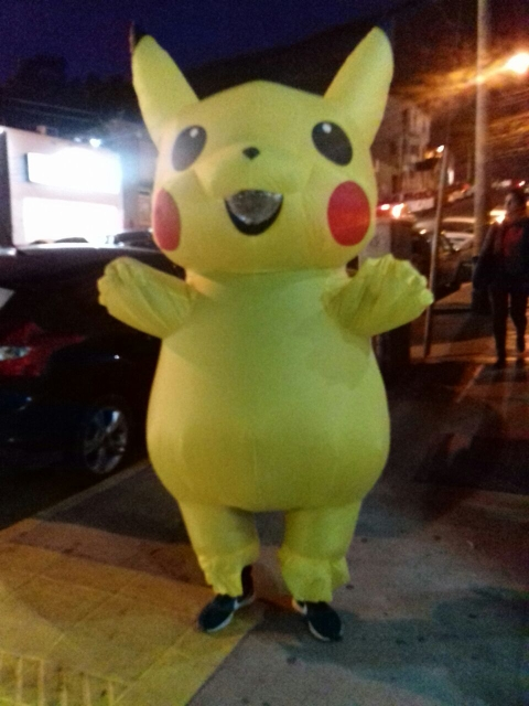 Yellow Inflatable Pikachu Cosplay pokemon Costume Dinosaur Halloween Christmas Inflatable Costume Party Costume for Adult