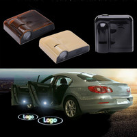 2Pcs Wireless For Chevrolet Led Logo Car Door Welcome Emblem Lights No Drill Type Badge Lights