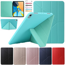 Multi-fold Tablet Case For ipad pro 11 2018 ultra Slim PU+TPU Magnetic Flip Smart Tablet Cover Case For ipad pro 11 inch 2018