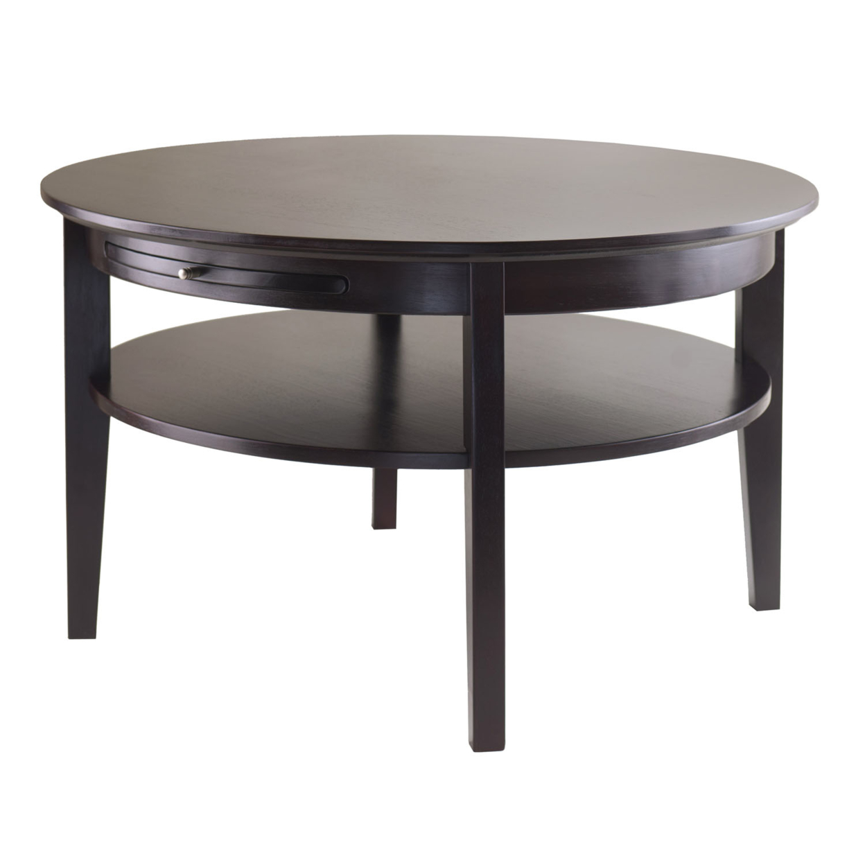 цена на Amelia Round Coffee Table with Pull Out Tray