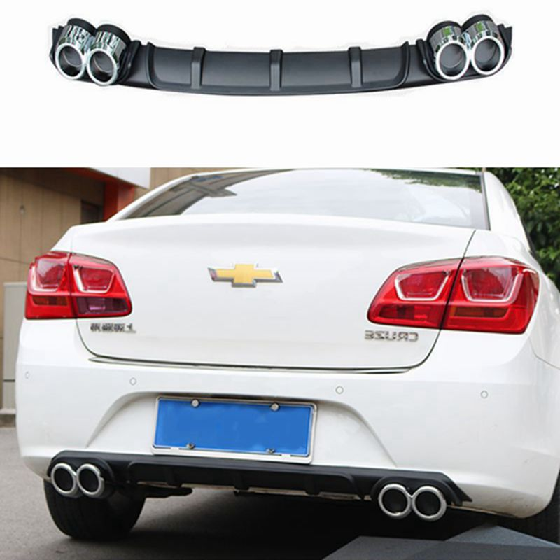For Cruze Rear spoiler ABS Rear Bumper Diffuser Bumpers Protector For Chevrolet Cruze Body kit bumper rear lip rear spoiler 2017 yandex w205 amg style carbon fiber rear spoiler for benz w205 c200 c250 c300 c350 4door 2015 2016 2017