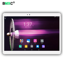 BMXC 3G 4G LTE Phone Call Tablet PC octa core 10.1 inch 1920*1200 IPS Android6.0 MT8752 4GB Ram 64GB Rom Dual Camera tablets pcs