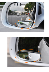 2Pc Car Mirror Auto 360 Wide Angle Round Convex Mirror Car Vehicle Side Blindspot Blind Spot Mirror Small Round RearView Mirror(China)