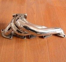Collettore di scarico turbo t25 in acciaio inox per fiat coupe 2.0 20v